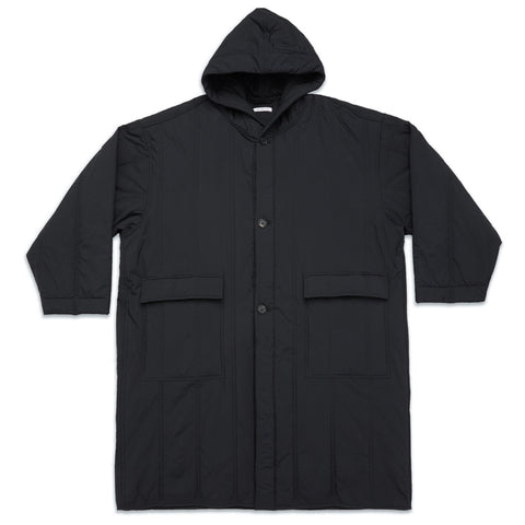 Canopy Coat - Black Quilted Recycled Nylon
