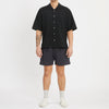 Aloha Shirt - Black Puckered