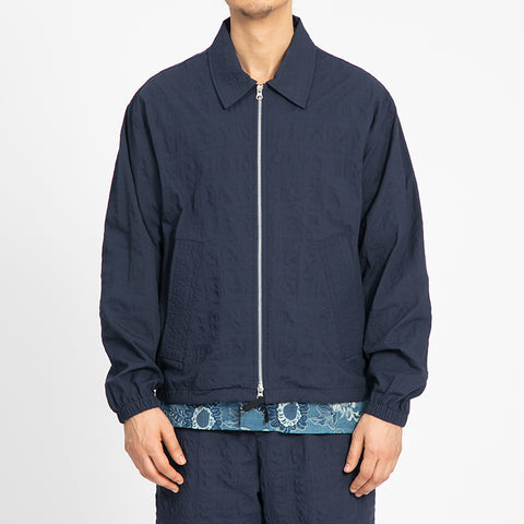 Puckered Navy Blue Hackney Jacket
