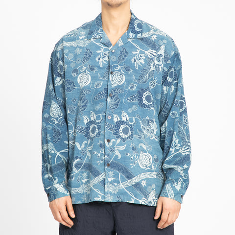 Floral Indigo Shore Shirt