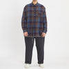 Langston Shirt - Blue & Purple Plaid