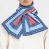 Patchwork Quilted Scarf - Multicolor Cotton
