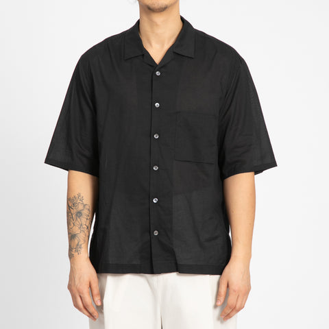 Translucent Black Aloha Shirt