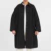 Mountain Trench Coat - Black Waxed Cotton/Nylon WR