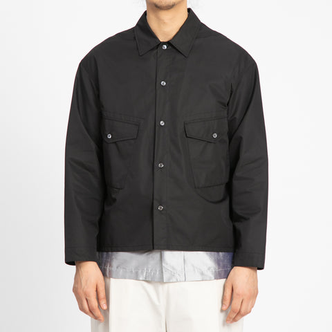 Black Water Resistant Terra Shirt/Jacket