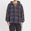 Pod Pullover Jacket - Blue & Purple Plaid