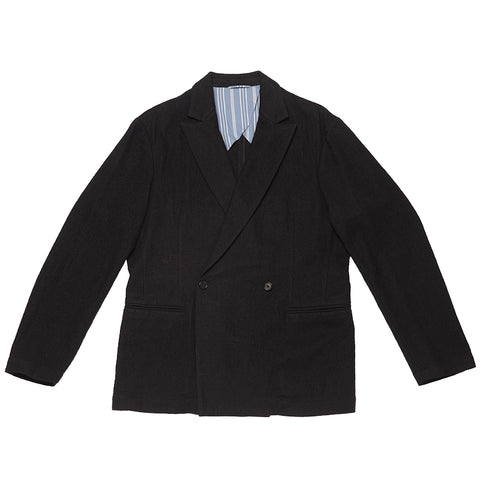 Darwin Blazer - Black Cotton / Wool