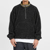 Half Zip Fleece - Black Wool Pile (Natural Speckle)