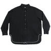 Langston Shirt - Black Puckered