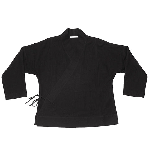 Folk Robe - Black Cotton / Wool