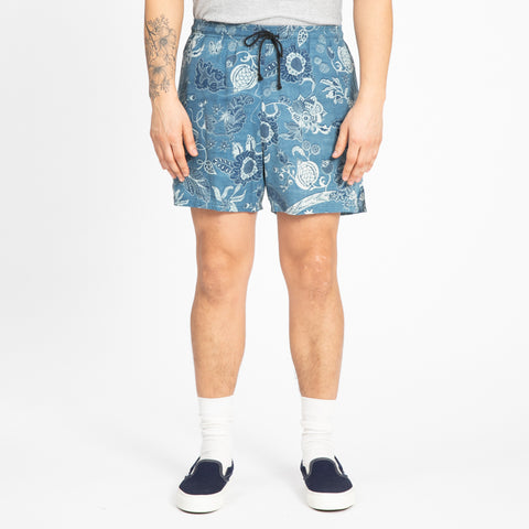 Floral Indigo MT Short