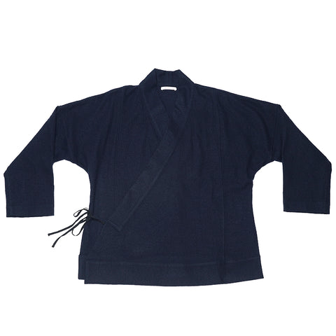 Folk Robe -  Navy Cotton / Wool