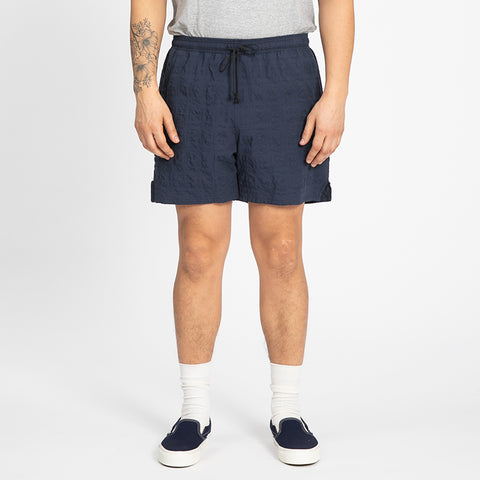Puckered Navy Blue MT Short