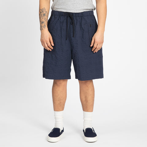 Puckered Navy Blue Convoy Short
