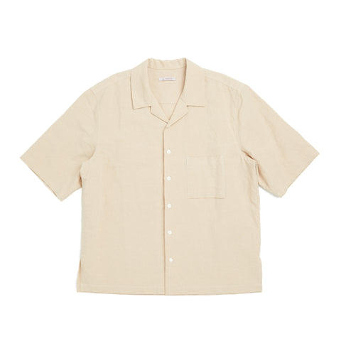 Aloha Shirt - Beige Linen/Cotton