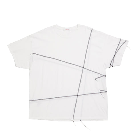 Cover Stitch T-Shirt - White w/ Black