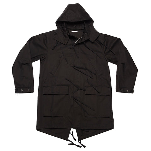 Fishtail Parka - Black Cotton (water resistant)