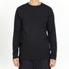 Roll-Neck Long Sleeve T-shirt - Black