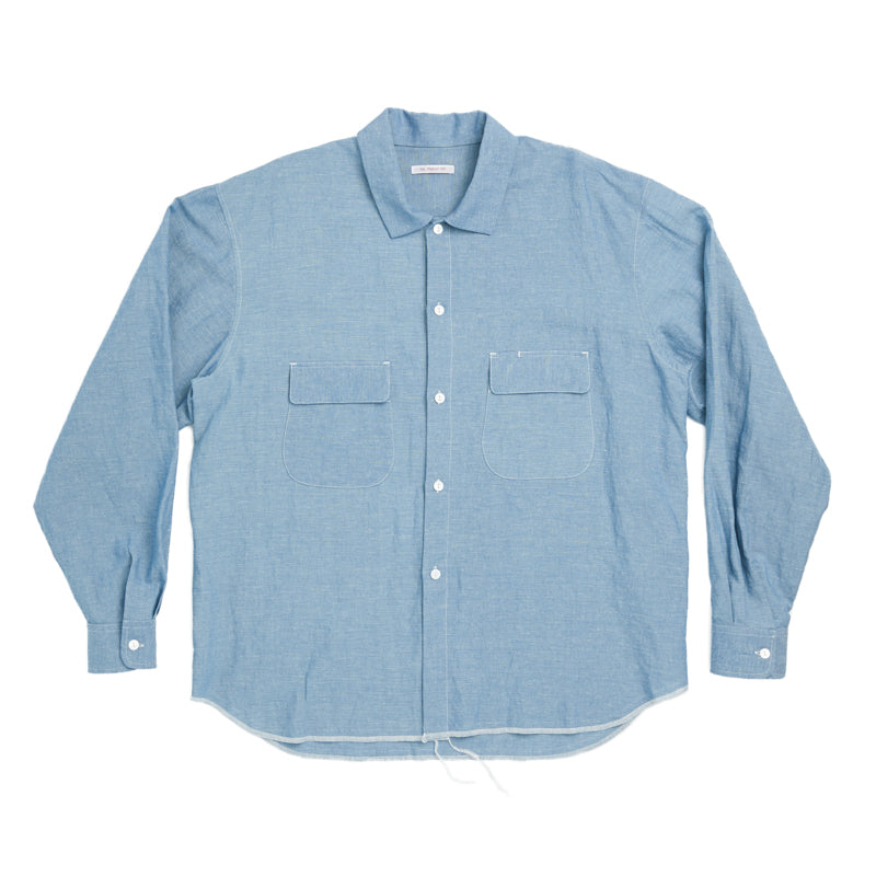 Moil Shirt - Indigo Cotton/Linen