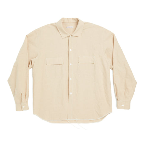 Moil Shirt - Beige Linen/Cotton
