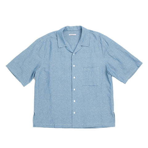Aloha Shirt - Indigo Cotton/Linen