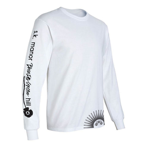 Long Sleeve Graphic T-Shirt - White (x BLUE IN GREEN)