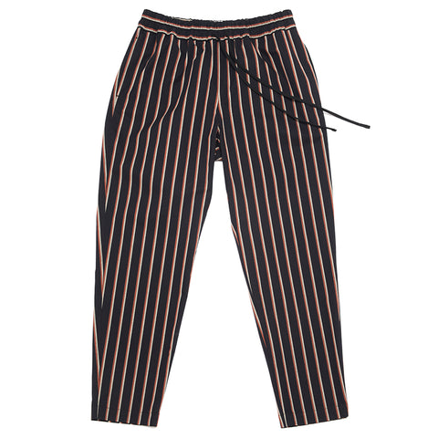 Coma Pant (modern fit) - Navy/Orange Stripe
