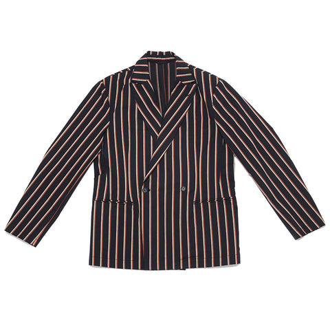 Darwin Blazer - Navy/Orange Stripe