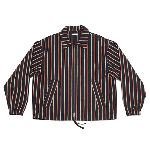 Hackney Jacket - Navy/Orange Stripe