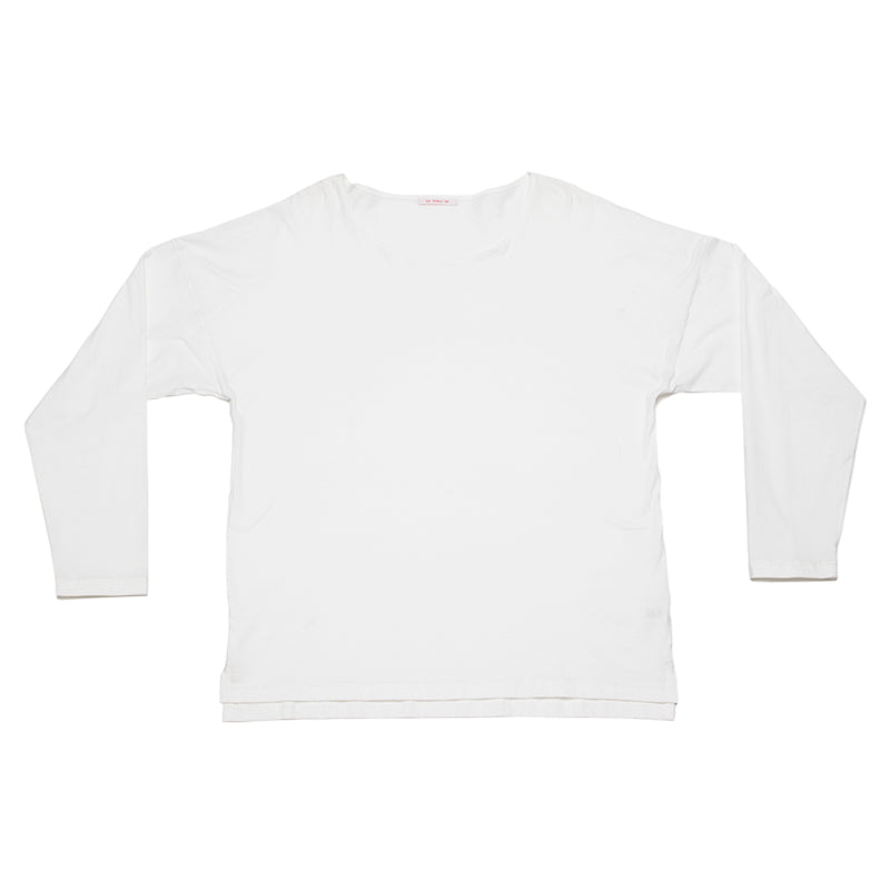 Long Sleeve Dolman Tee - White