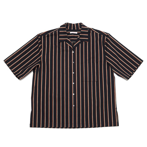 Aloha Shirt - Navy/Orange Stripe