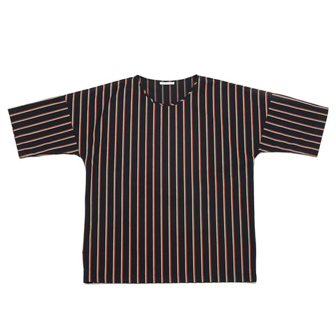 Palatine Shirt - Navy/Orange Stripe