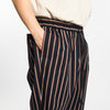Coma Pant (wide fit) - Navy/Orange Stripe