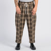 Band Pant - Brown Plaid