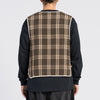 Saxton Vest - Brown Plaid