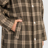Shelby Trench Coat - Brown Plaid