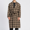 Wallace Robe - Brown Plaid Wool