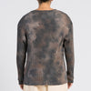 Long Sleeve Ribbed T-Shirt - Grey Tie-Dye