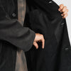 Shelby Trench Coat - Black Corduroy