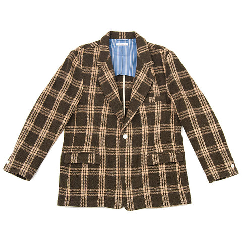 Julian Blazer - Brown Plaid