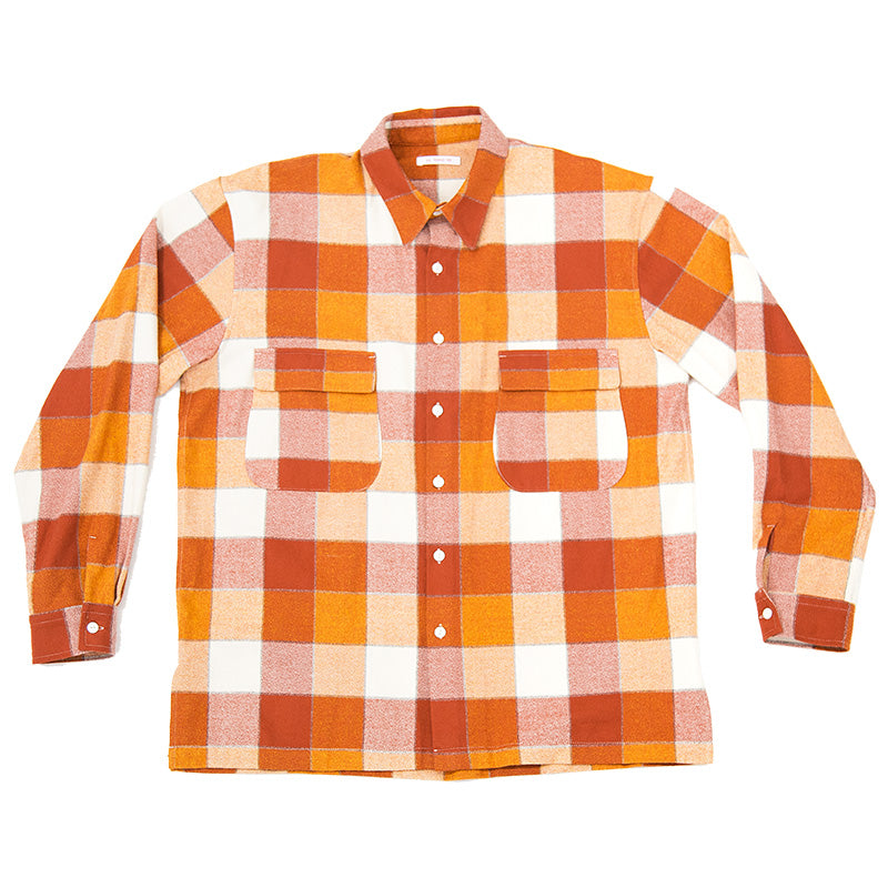 Wilbur Shirt - Orange Plaid