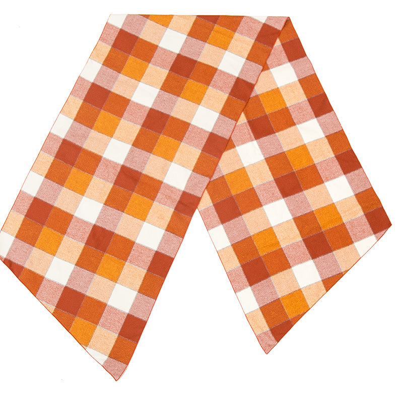 Long Scarf - Orange Plaid