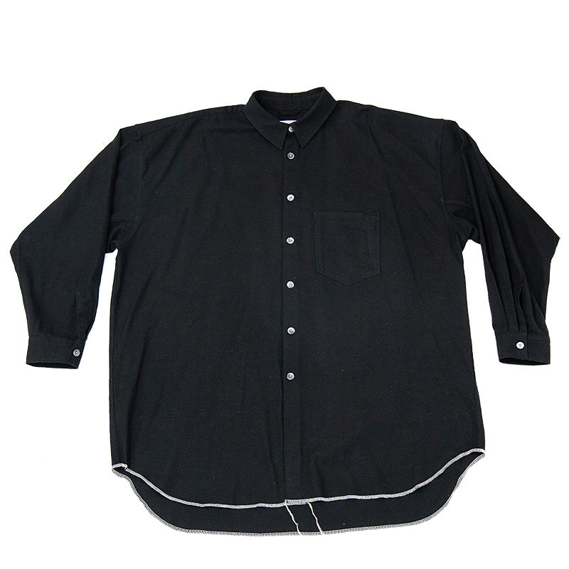 Ox Shirt - Black Rayon/Cotton/Silk