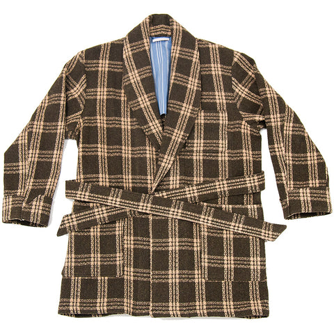 Augustine Robe - Brown Plaid