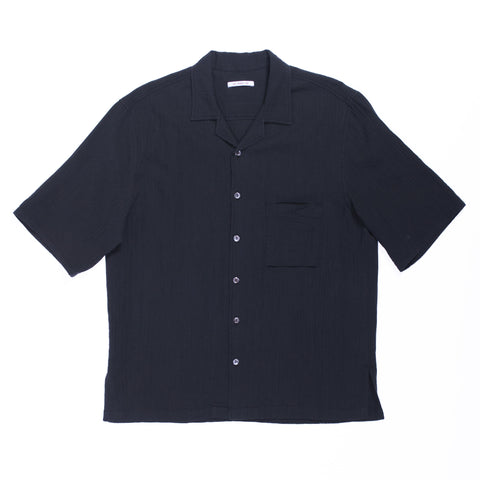 Aloha Shirt - Black Organic Cotton