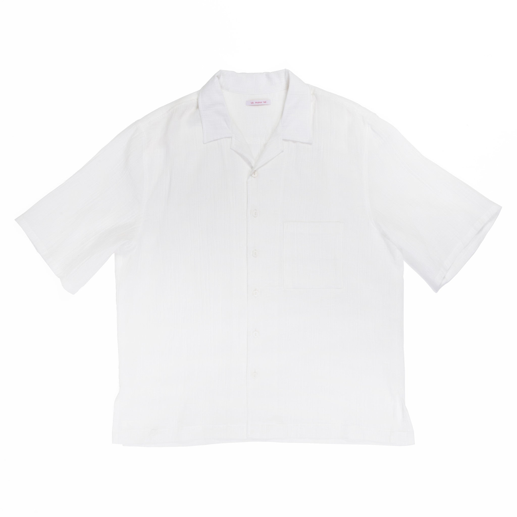 Aloha Shirt - White Organic Cotton