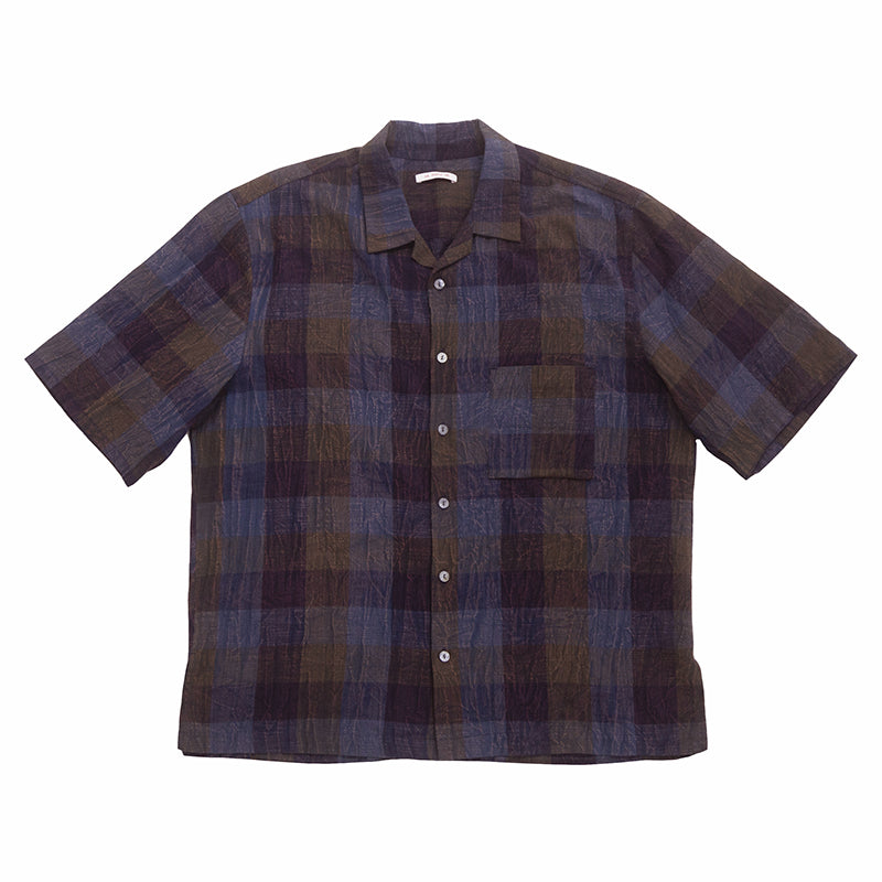 Aloha Shirt - Blue & Purple Plaid