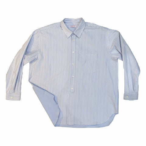 Artisan Shirt - Light Blue Striped Cotton Oxford