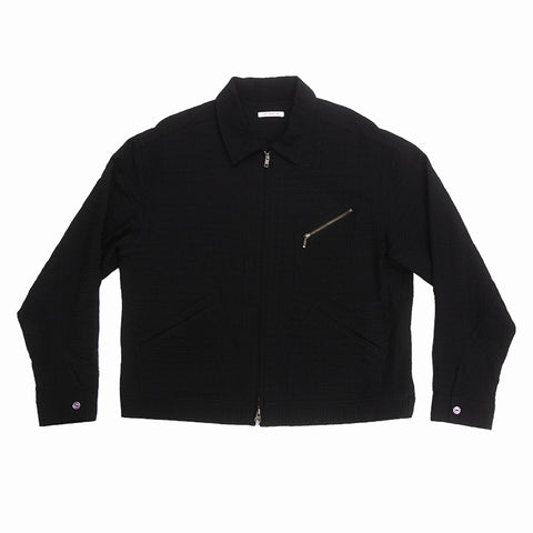 Buddy Jacket - Black Puckered