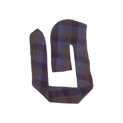 Head Wrap - Blue & Purple Plaid